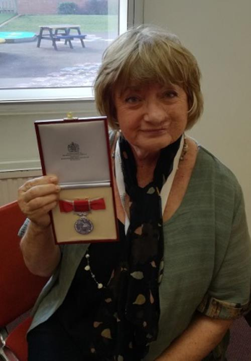 British Empire Medal for Mrs Ball