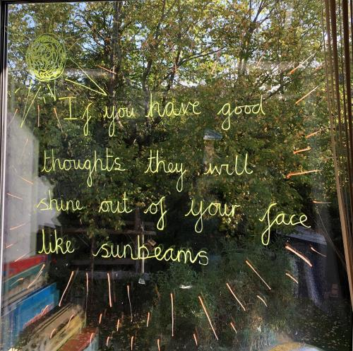 Positive Window Messages in Ty Hapus