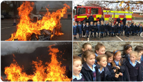 Year 2 recreate the Great Fire of London