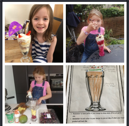 Fun at the home made ice cream parlour!
