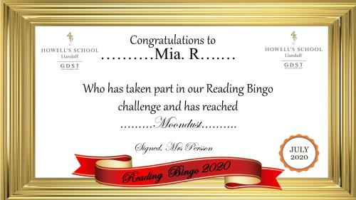 Mias Reading Reaches the Moon!