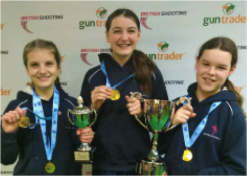 Our Champions at the British Schools Pistol National Final